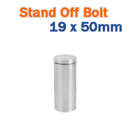 19 x 50mm Stainless Steel Advertisment Nails Glass Standoff - Brushed Finish Sign Hardware for Frames