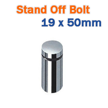 19 x 50mm Stainless Steel Advertisment Nails Glass Standoff - Chrome Finish Sign Hardware for Frames