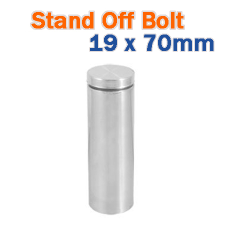 19 x 70mm Stainless Steel Advertisment Nails Glass standoff - Brushed Finish Sign Hardware for Frames