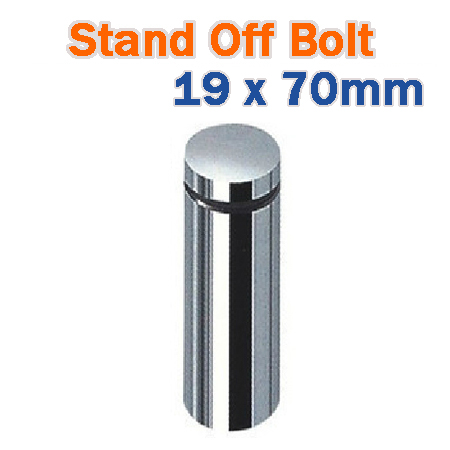 19 x 70mm Stainless Steel Advertisment Nails Glass standoff - Chrome Finish Sign Hardware for Frames