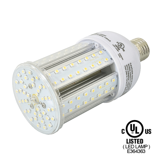 E26 12Watt LED Corn Light Bulb UL Listed - Pure White LED Corn Lamp - LED Halogen Replacement