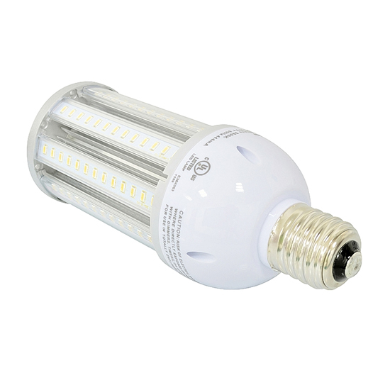 E39 36Watt LED Corn Light Bulb UL Listed - Pure White LED Corn Lamp - High Bay Replacement