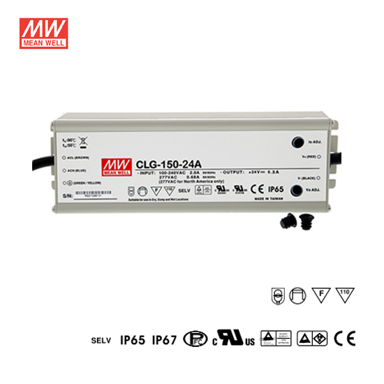 24volt power supply single output led driver mean well clg15024a 150watt