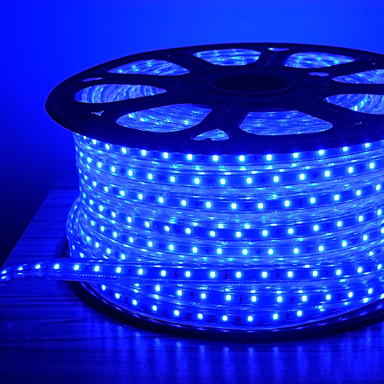 Blue led rope light outdoor event lighting deck decorative light outdoor blue led rope light 150 ft 120volt waterproof rope christmas lighting aloadofball Image collections