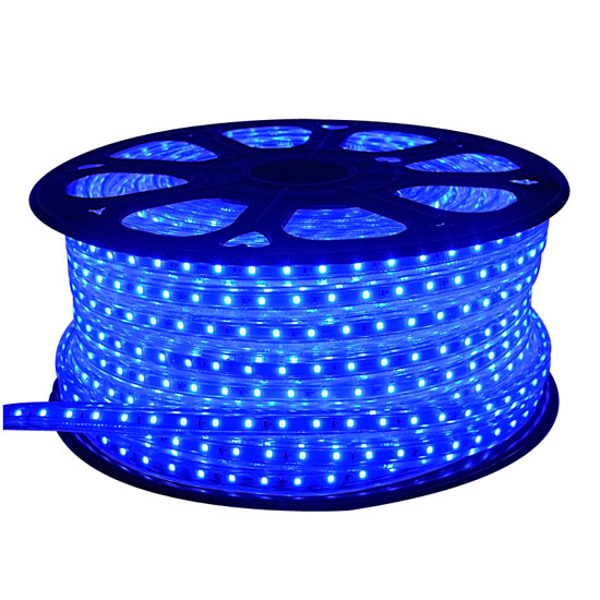 outdoor blue led rope light 150 ft 120volt waterproof rope christmas lighting