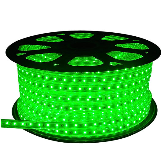 outdoor green led rope light 150 ft 120volt waterproof rope christmas lighting