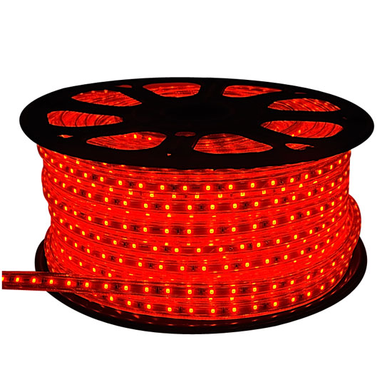 outdoor red led rope light 150 ft120volt waterproof christmas rope lighting