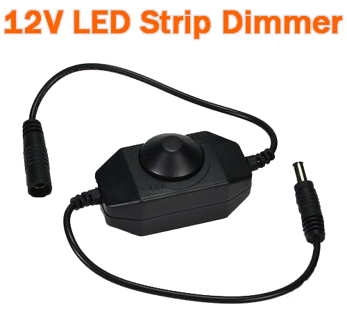 12Volt On Wire LED PWM Dimmer - Black