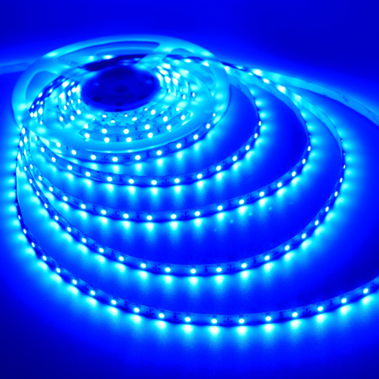 Blue Flexible LED Strip Light  12Volt LED Tape Light   Bright 3528 Non  Waterproof Light