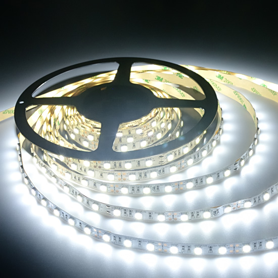 Cool White Flexible LED Light Strip   12Volt LED Ribbon Light   5050 Non  Waterproof LED