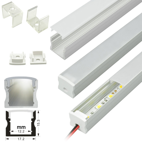 Deep Surface Mount - Aluminum Extrusion Profile LED Strip Fixture Channel - Strip Light Housing
