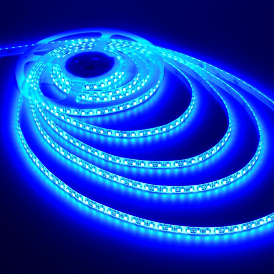 Amazing Blue LED Strip Light Outdoor Lighting   12Volt Bright Tape Light   3528  Waterproof Cuttable Strips