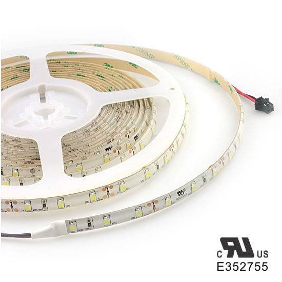 Outdoor Cool White LED Light Strips - 12Volt LED Ribbon Lights - 3528 Waterproof LED Strips 60LEDs/m