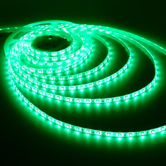 Outdoor Green LED Lights - 12Volt LED Tape Lights - 3528 Waterproof LED Strip 60LEDs/m
