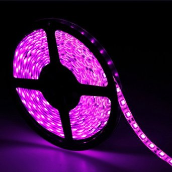 Outdoor Pink Flexible LED Light Strip   12Volt LED Tape Light   Best 5050  Waterproof LED