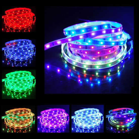 Outdoor RGB LED Strip Lights   12Volt Color Changing LED Tape Lights    Dream Color 5050