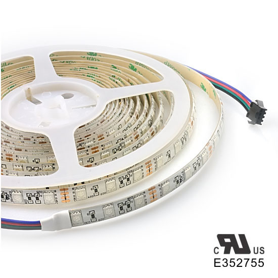 Outdoor RGB LED Strip Lights - 12Volt Multi Color LED Tape Lights - 5050 Waterproof LED Strip 60LEDs/m