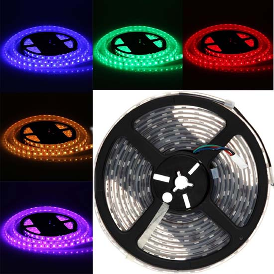 Rgb led strip light color changing tape light waterproof led outdoor rgb led strip lights 12volt multi color led tape lights 5050 waterproof ip68 mozeypictures Images