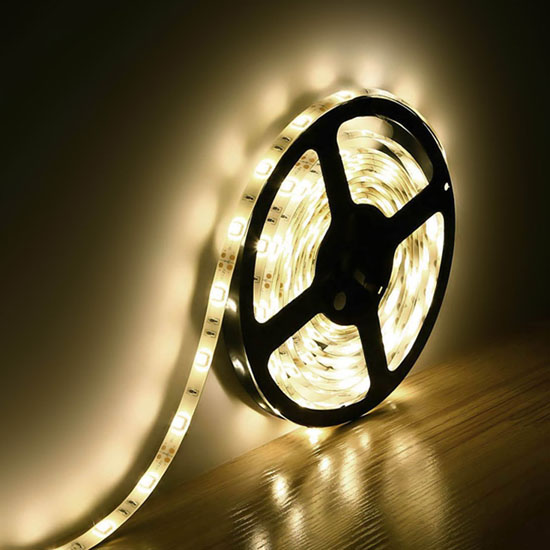 Outdoor Warm White Flexible LED Strip Lights - 12Volt LED Tape Lights - 5050 Waterproof LED Strip 30LEDs/m