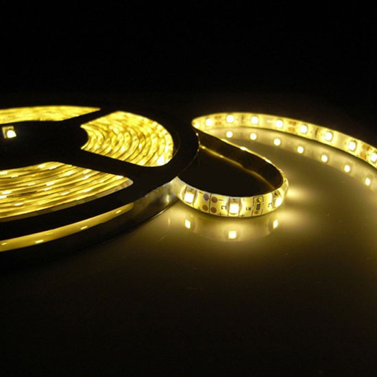 Yellow led strip light 12volt exterior led lighting led ceiling outdoor yellow led light strips 12volt led tape light 3528 waterproof led strips 60leds aloadofball Image collections