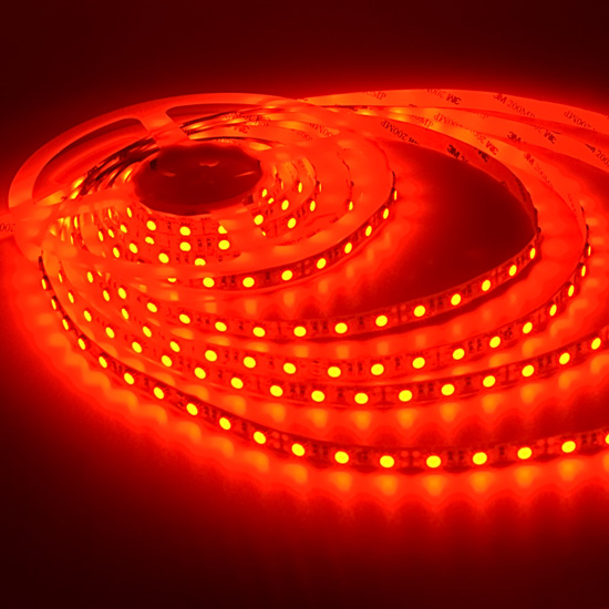 red flexible led light strip 12volt led tape light high quality 5050 non waterproof