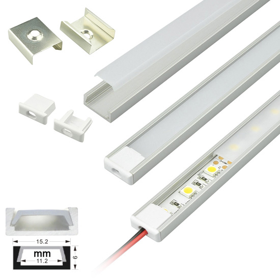 Rigid led strip light housing aluminum extrusion profile fixture surface mount aluminum extrusion profile led strip fixture channel strip light housing aloadofball Choice Image