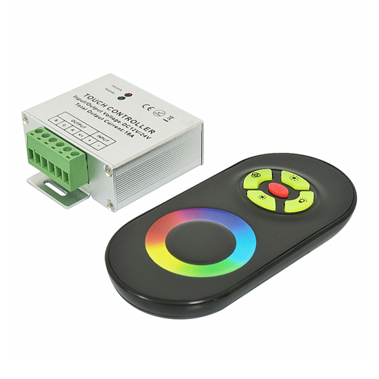 Touch Color Ring LED RGB Controller RF Remote 12/24V 6A