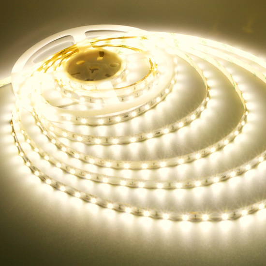 Warm White Flexible LED Strip Light- 12Volt LED Ribbon Light - 3528 Non Waterproof Light Strips 60LEDs/m