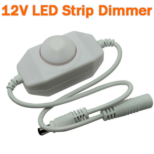 12Volt On Wire LED PWM Dimmer - White