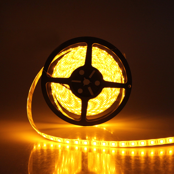 Yellow led strip light flexible led strips waterproof ribbon lights yellow flexible led light strip 12volt led tape light best 5050 non waterproof led mozeypictures Choice Image