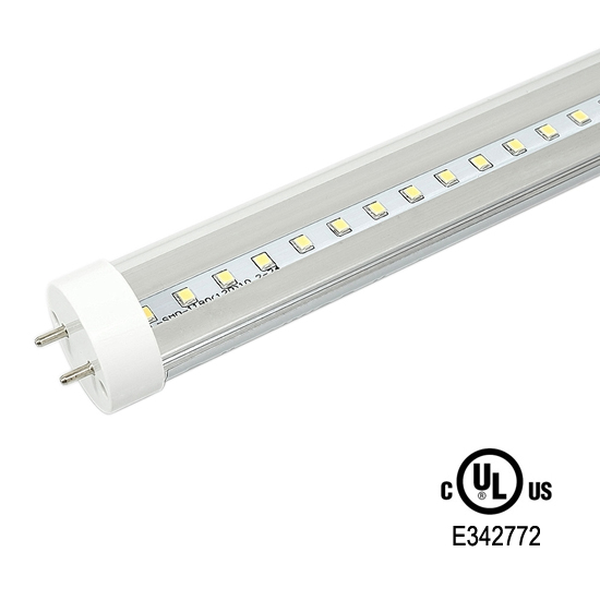 4-Foot T8 Ballast Compatible LED Tube Light UL/DLC listed - Clear Cover 18Watt LED Fluorescent Replacement Light Bulb Warm White