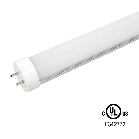 4-Foot T8 Ballast Compatible LED Tube Light UL/DLC listed - Milky Cover 18Watt LED Fluorescent Replacement Light Bulb Warm White