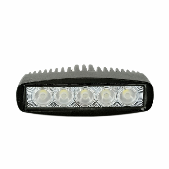 6 Inch 15W Oval Epistar LED Work Light Bar Flood Beam - Waterproof Offroad Driving Trailer Tractor Boat Lamp