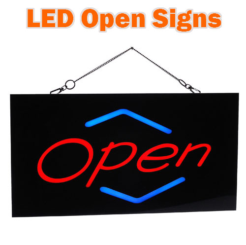 Rectangle LED Open Sign