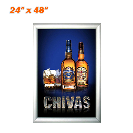 "Slim Snap Frame LED Light Box 24 x 48"" - Movie Poster Frames Advertising Light Box"