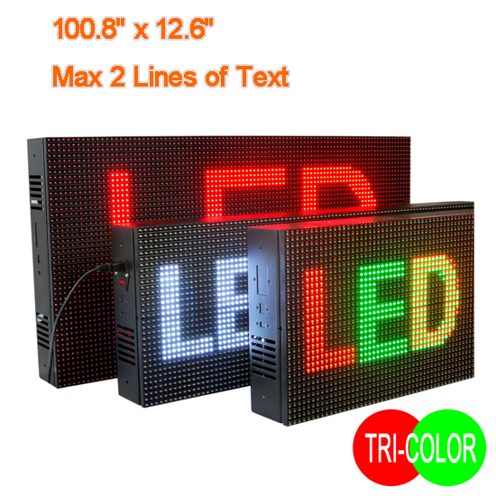 Tri Color LED Display Sign | Electronic Advertising Signs