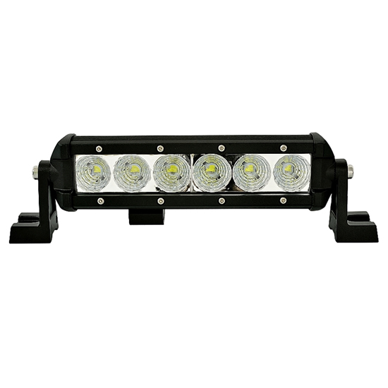 8inch 18w led light bar bright offroad light vehicle auxiliary lights